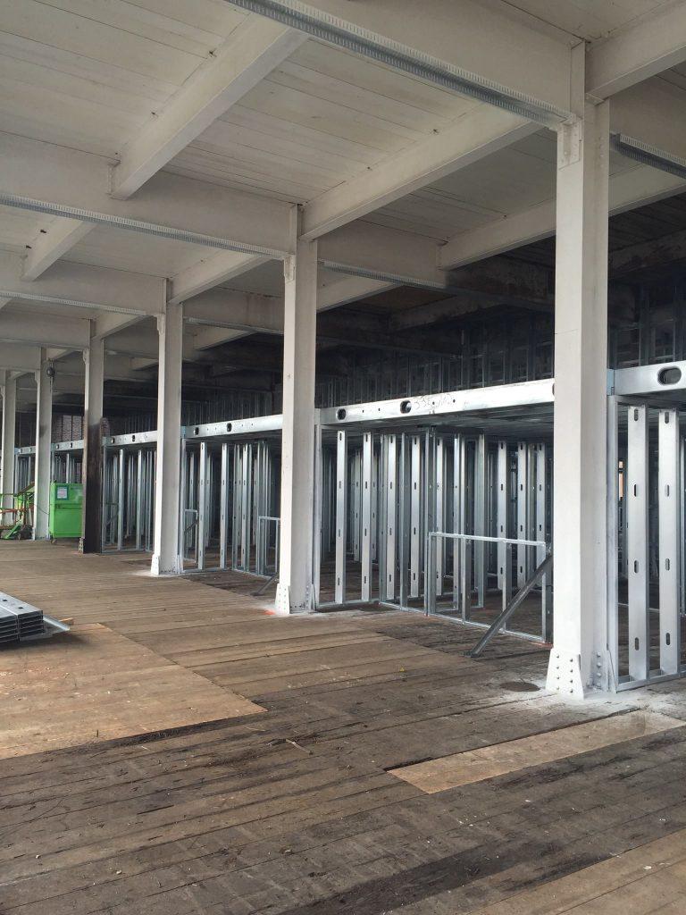 3rd floor steel beams