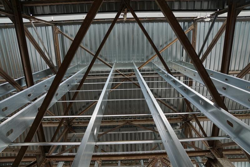 24 foot framing to peak of Clearstory