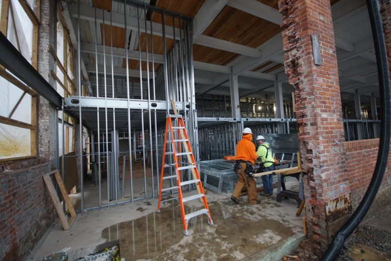framing Williamsburg II 1st floor